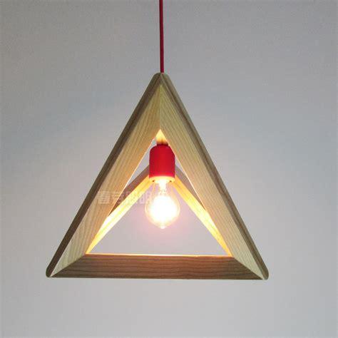 Handmade Ceiling Lights - novelty e27 retro wood pyramid triangle pendant light
