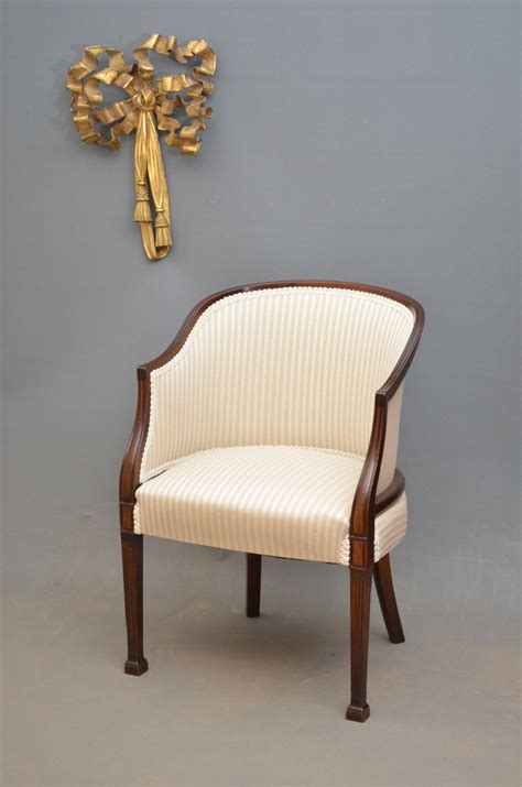 mahogany armchair an edwardian mahogany armchair antiques atlas