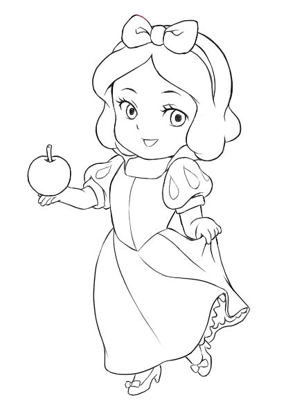 chibi princess coloring pages chibi snow white chibi snow white lines chibi snow