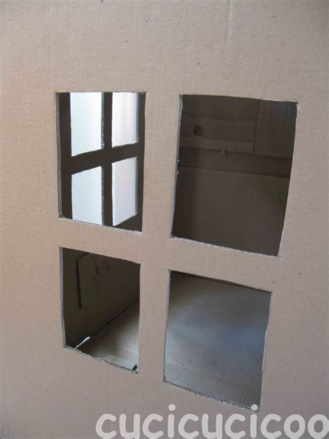 How To Make A Window Out Of Paper - cardboard play house cucicucicoo