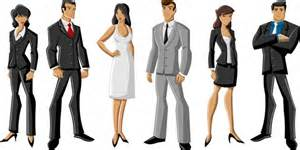 Business people vector cartoon characters free vector in encapsulated