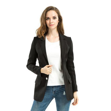 Two Botton Big Size Plus Size plus size black blazer 2015 new autumn slim two button office business