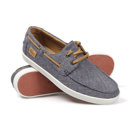 boat shoes canvas lacoste keellson 5 canvas boat shoes oxygen clothing