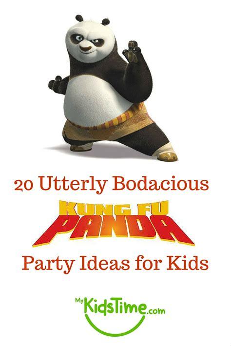 utterly bodacious kung fu panda party ideas  kids