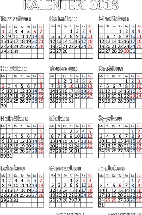 kalenteri  tulostettava   calendar printable  holidays list
