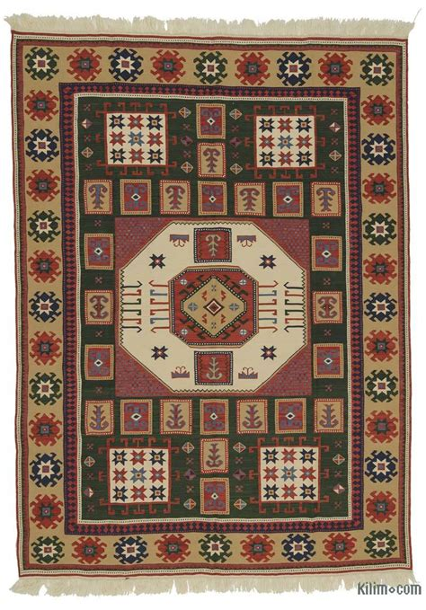 brown  turkish kilim rug