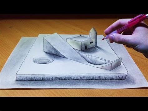 3d illusion l youtube trick art drawing 3d illusion platform youtube