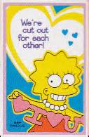 simpsons valentines card the simpsons archive greeting cards simpsons valentines