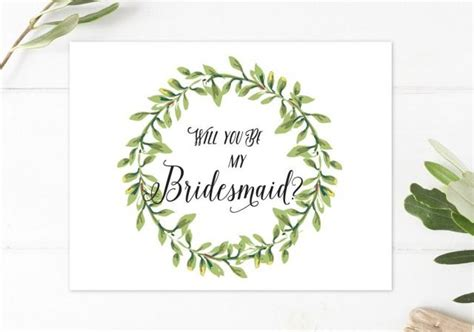 Will You Be My Bridesmaid Rustic Boho Bridesmaid Card Will You Be My Bridesmaid Printable Card Will You Be My Godmother Free Template
