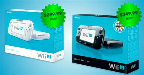 cost of wii console nintendo wii u price and availability detailed preorders