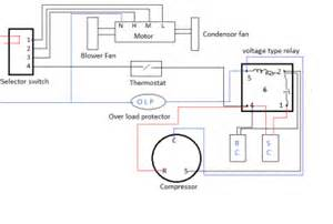 compressor relay wiring diagram wedocable