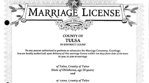 State Of Oklahoma Marriage Records Lawmaker Wants State To Stop Issuing Marriage Licenses Ktul
