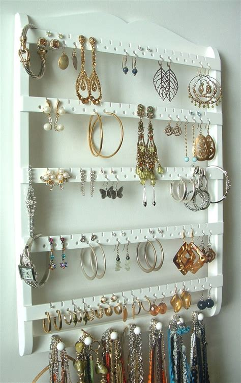 Jewelry Holder by Jewelry Display Earring Holder 7 Peg Necklace Holder 90