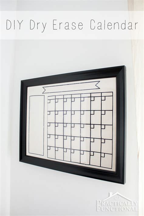 how to make a erase calendar from a picture frame diy erase calendar