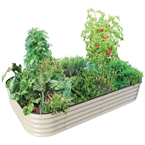 Raised Vegetable Garden Beds Bunnings Birdies 2200 X 1300 X 400mm Paperbark 6 In 1 Raised Garden