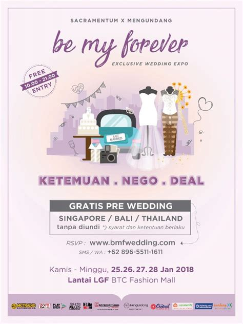 wedding expo bandung be my forever exclusive wedding expo infobdg