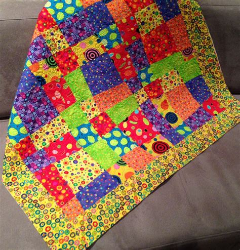 Patchwork Stitches - stitch a and easy nine patch quilt pattern