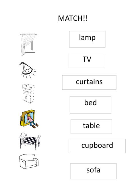 In My House Matching Activity for Kids