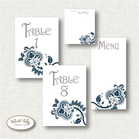 Printable Table Numbers Designs   5 best images of table numbers printable cards designs