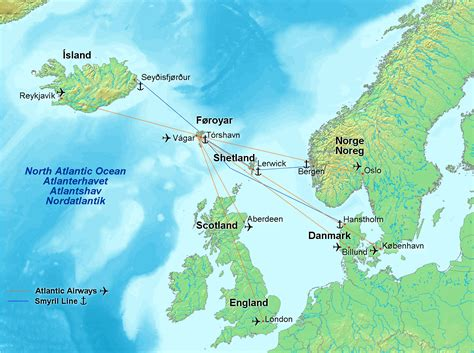 tiedosto map of faroe islands in europe flights and