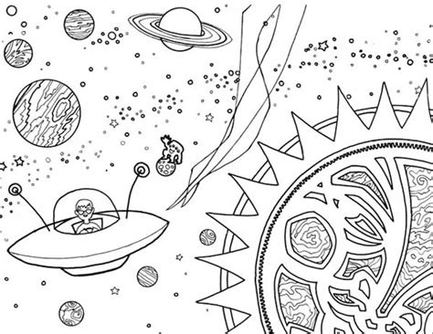 alien spaceship coloring netart