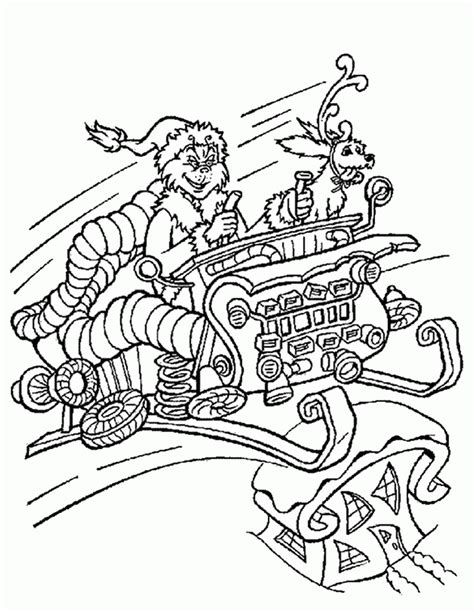 christmas coloring page grinch how the grinch stole christmas coloring page coloring home