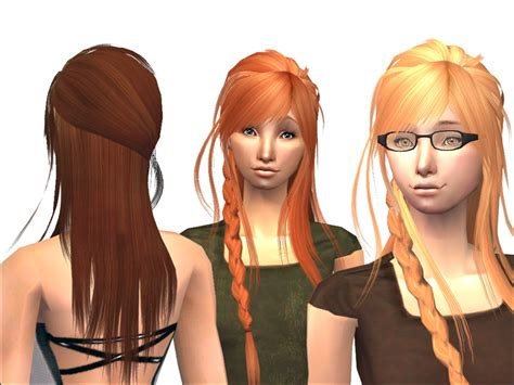 sims 2 hair custom content mod the sims braided xm083 7 binned familiarized