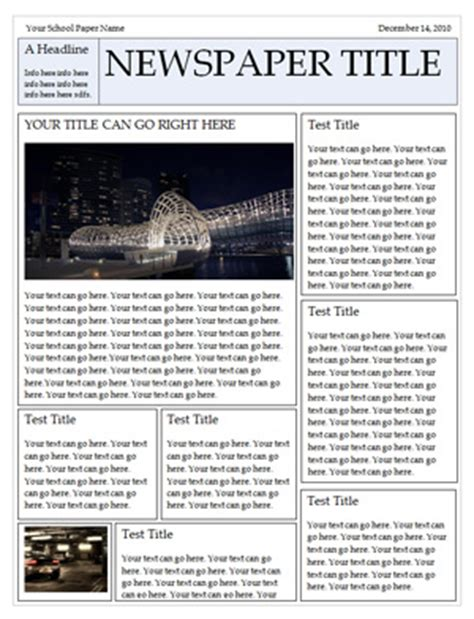 Newspaper Template For Word Newspaper Template Free Newspaper Templates For Microsoft Word