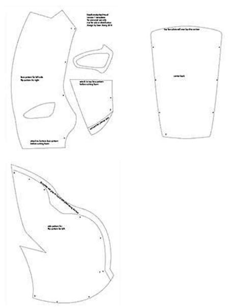 deathstroke armor template deathstroke redh0od printable templates from xiengprod on
