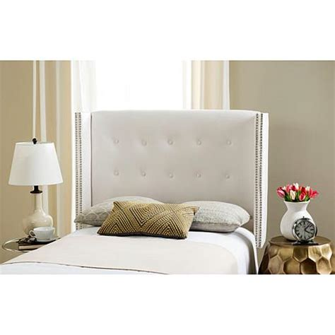 keegan grey velvet tufted winged headboard silver nail silver tufted bed full image for tufted linen headboard
