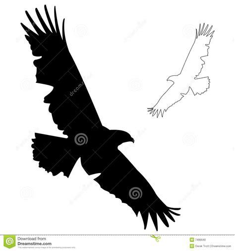eagle silhouette stock photo image 7486640