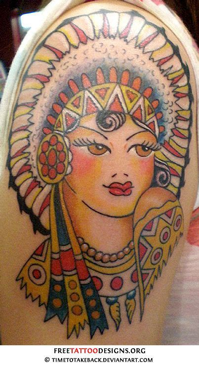 sailor jerry native indian tattoo tattoos