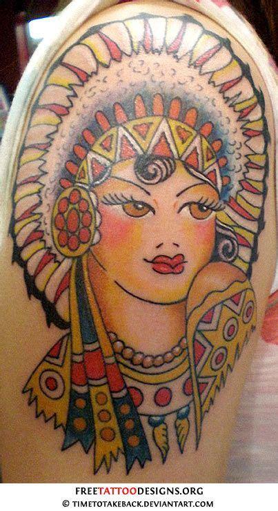 sailor jerry native indian tattoo tattoos