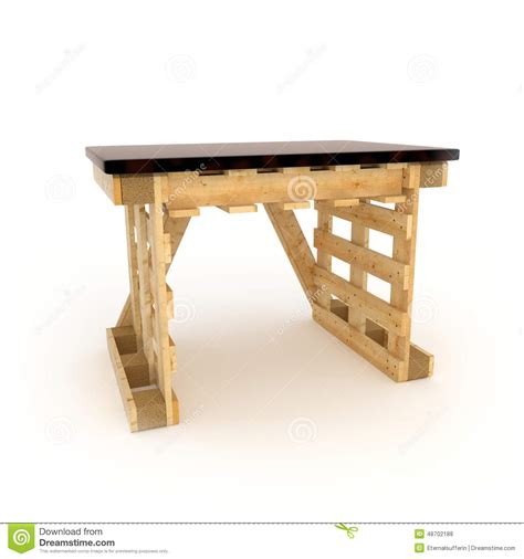 furniture made with wooden pallets stock photo image