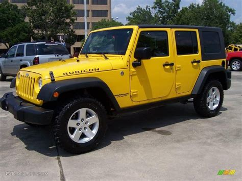 yellow jeep 4 door yellow jeep wrangler unlimited rubicon for sale