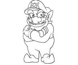 wario coloring pages az coloring pages