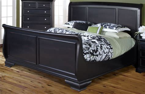 black queen sleigh bed maryhill rubbed black queen sleigh bed