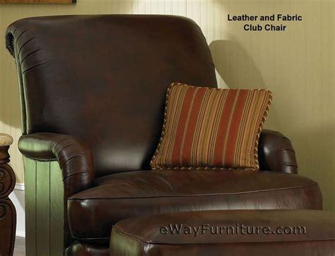 fabric ottoman aiomp3s club giovanna leather and fabric club chair with leather ottoman