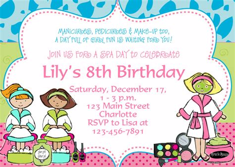 cool free template 8th birthday party invitation wording