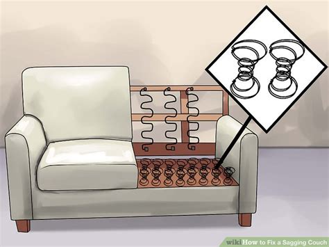 how to repair sagging couch how to fix a sagging couch 14 steps with pictures wikihow