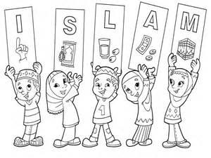 mewarnai gambar islami anak muslim modifikasi sepeda motor