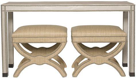 Upholstered Console Table Vanguard Living Room Vann Upholstered Sofa Table V116s Ut Whitley Furniture Galleries