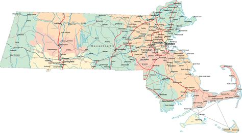 mass map massachusetts road map ma road map massachusetts highway map