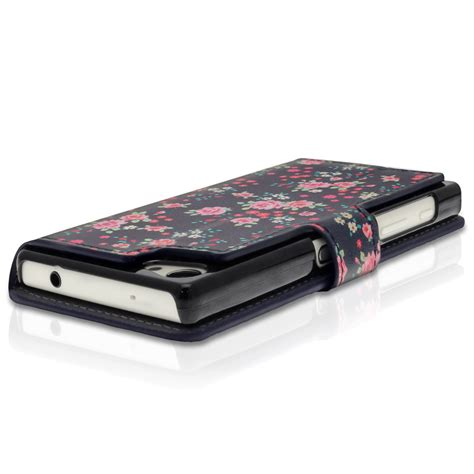 Flip Cover Sony Xperia Z5 Mini Compact Leather Magnetic pu leather flip wallet for sony xperia z5 compact