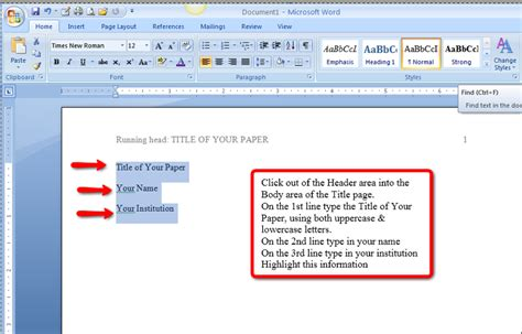 apa format without title page apa style and format
