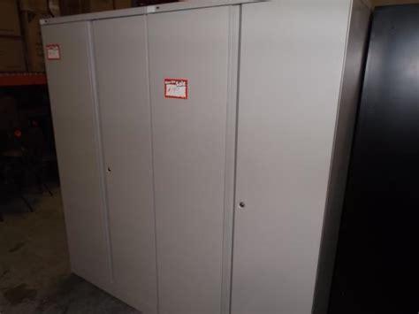 Hoppers Office Furniture Used Metal 2 Door Storage Cabinets Used Storage Cabinets With Doors