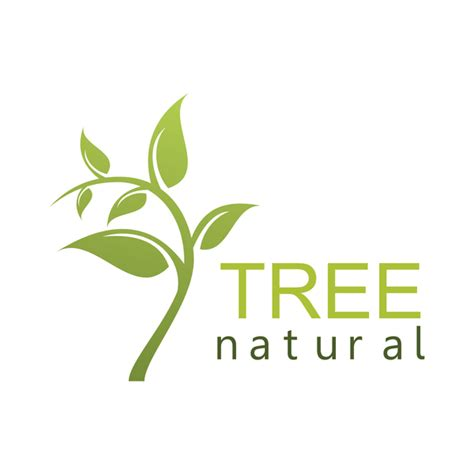 Green Tree Natural Logo Vector Welovesolo Green Tree Logos Vector Graphic 01 Vector Logo Free