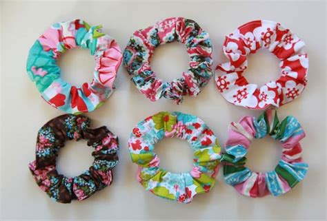 Rubber Fabric Hair Tie scrunchies sew fabric around elastic hair tie