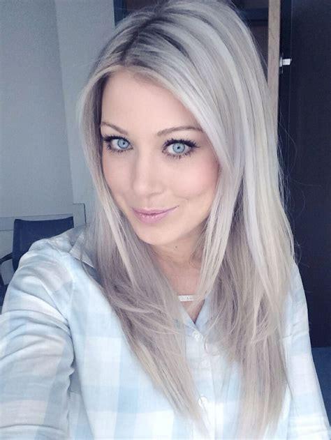 gray ash blonde hair images to get an ash blonde using purple dark purple shoo