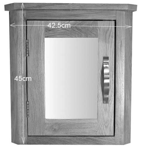 solid oak wall mounted bathroom mirror cabinet and shelves solid oak wall mounted corner bathroom mirror cabinet 45cm